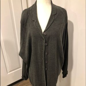 Grey button down cardigan NWT